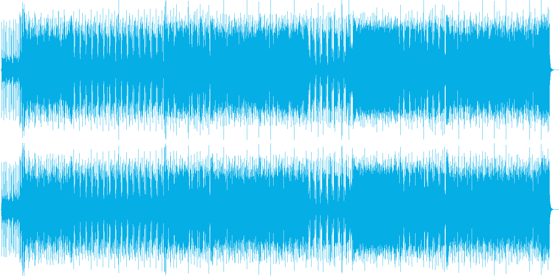ドラムとギターがかっこいいポップロックの再生済みの波形