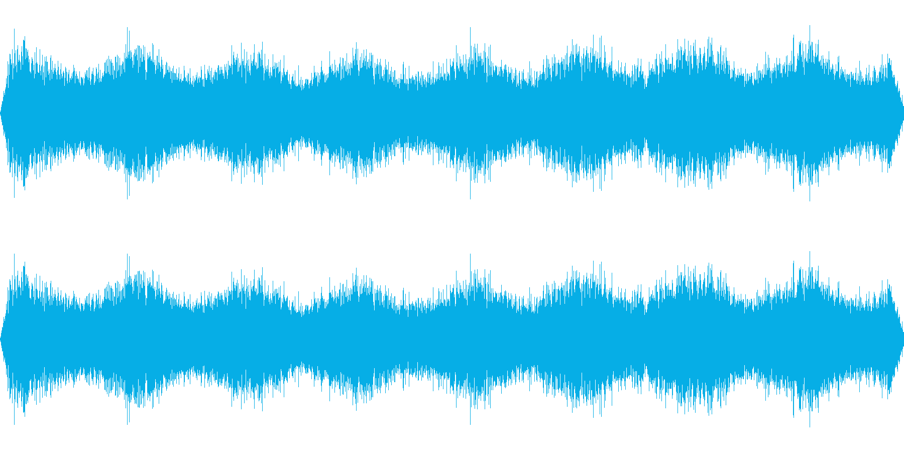 宇宙人の音の再生済みの波形