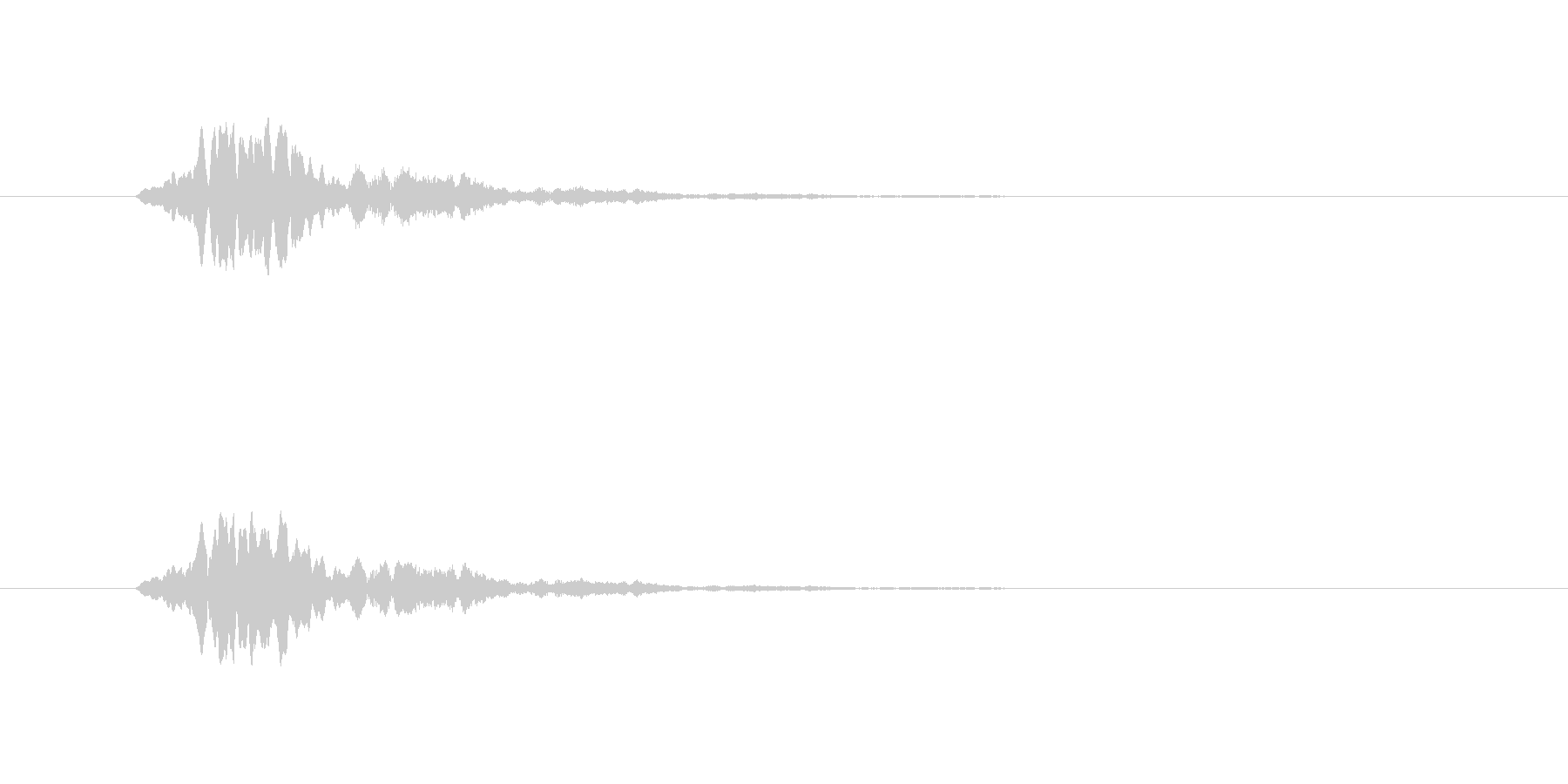 こちらもひゅーんという音です。ピッチが…の未再生の波形
