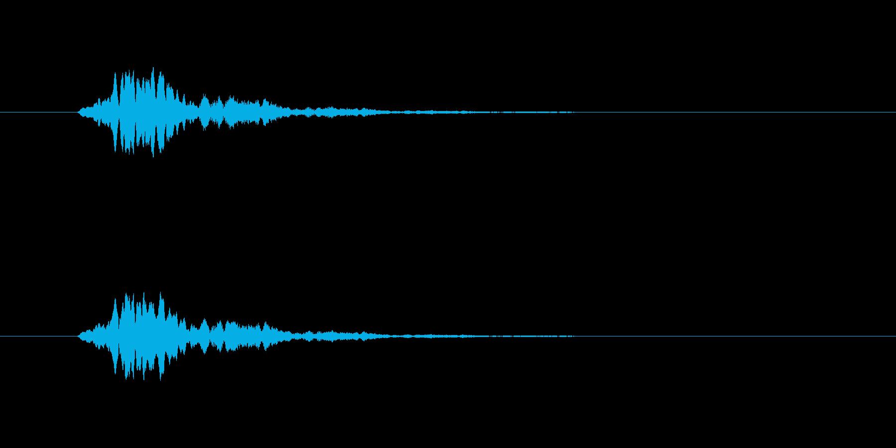 こちらもひゅーんという音です。ピッチが…の再生済みの波形