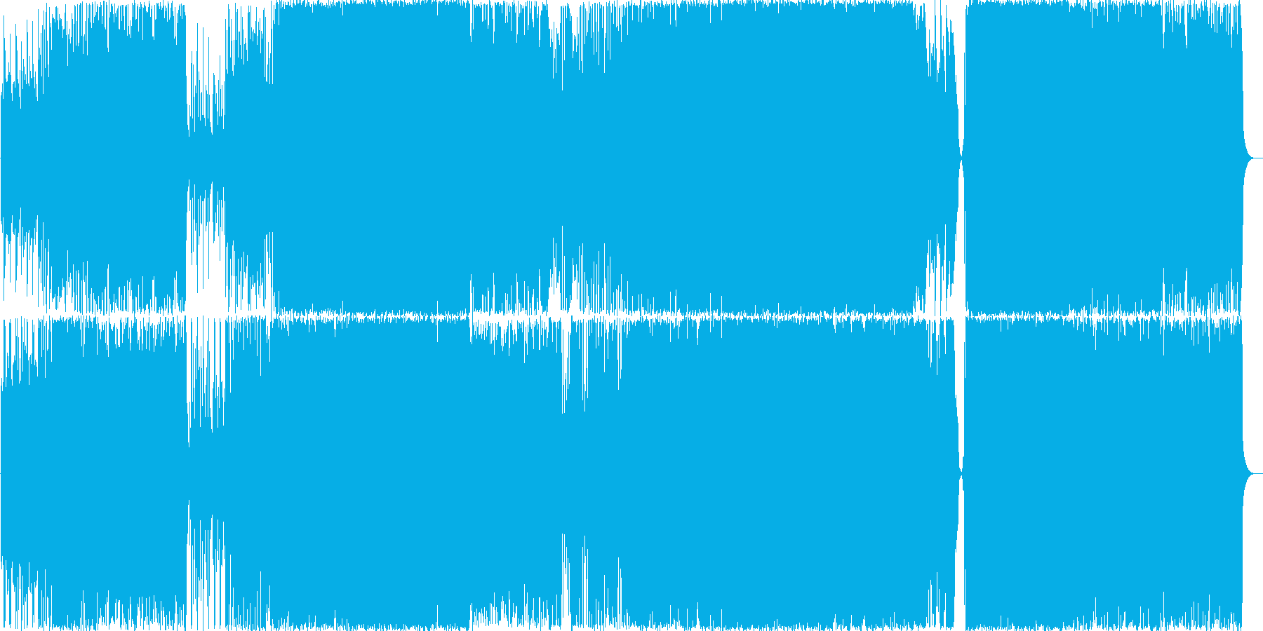 ミディアムテンポの壮大な和風ハードロックの再生済みの波形