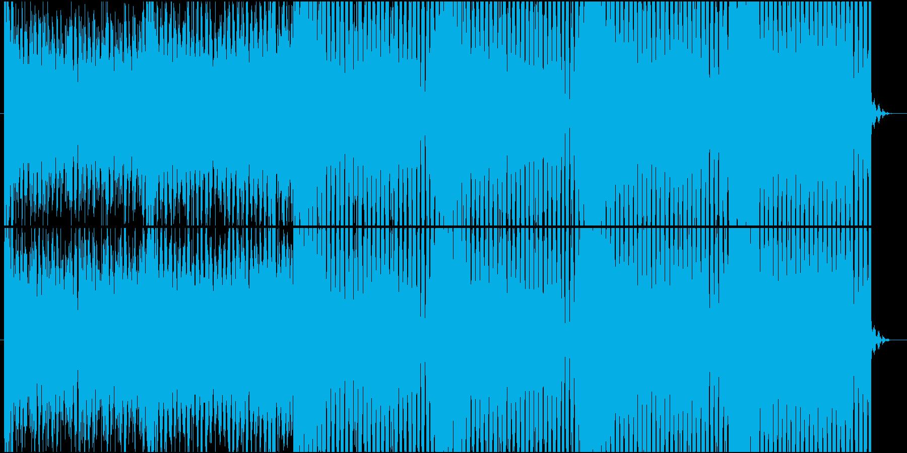 攻撃的なリフのEDM swedish風の再生済みの波形