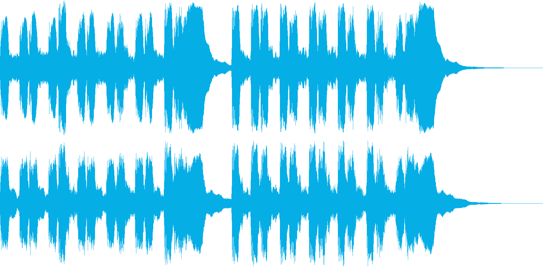 ラッパのみのファンファーレです。の再生済みの波形