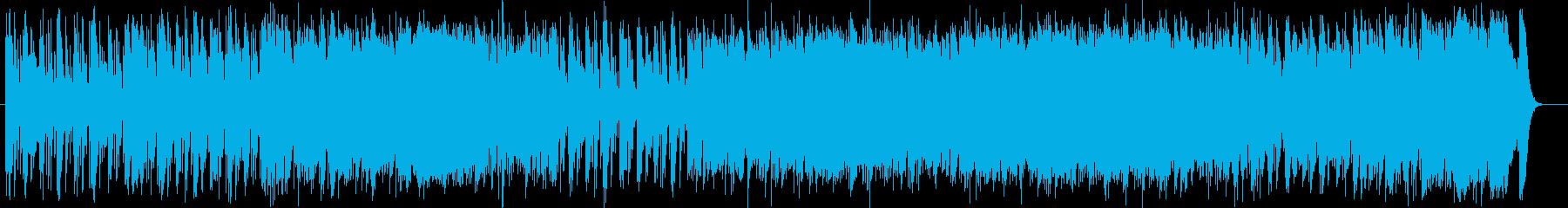 幻想的でスピード感があるミュージックの再生済みの波形