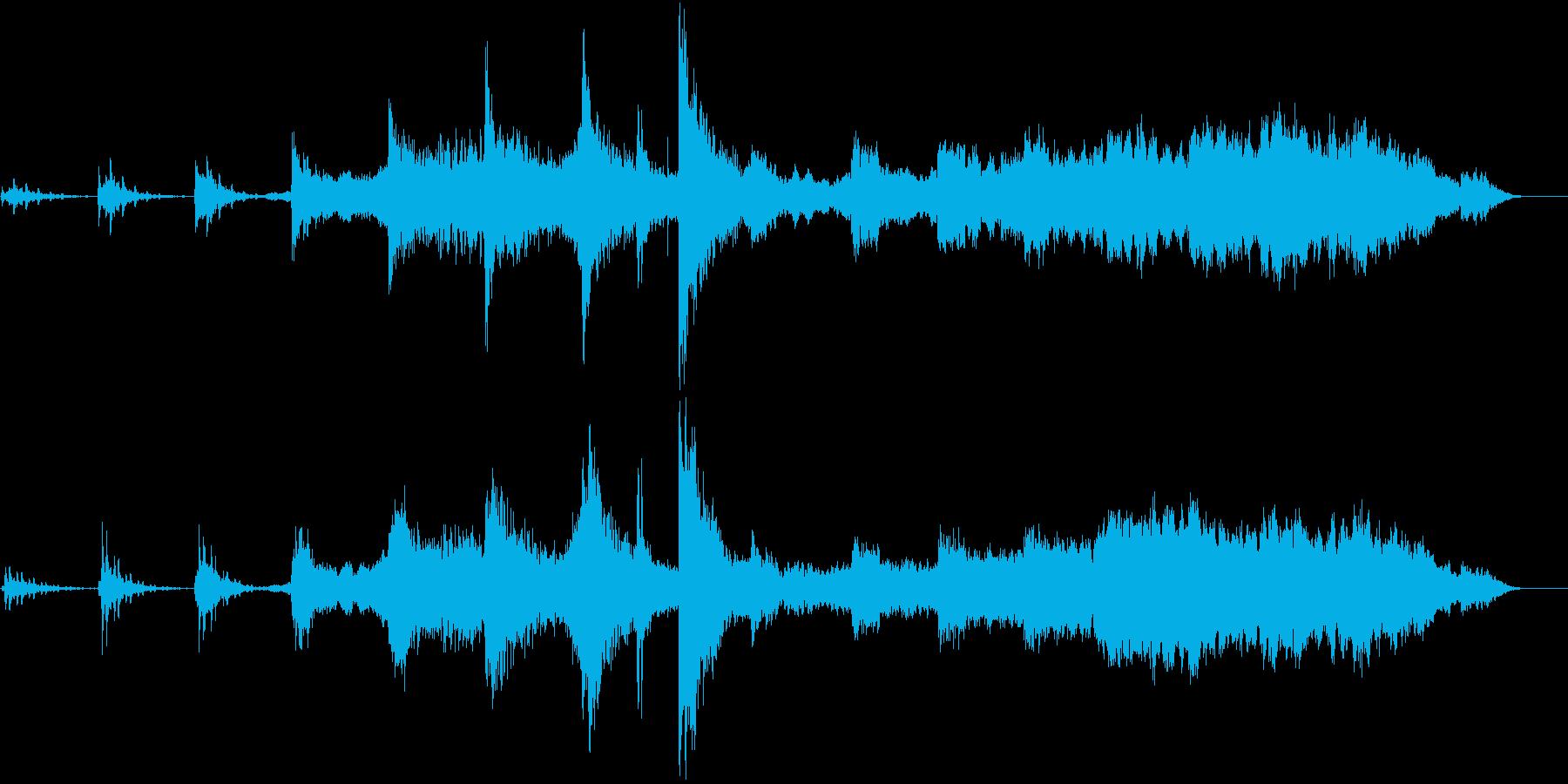 琵琶などを使った和風神秘サスペンス音楽の再生済みの波形