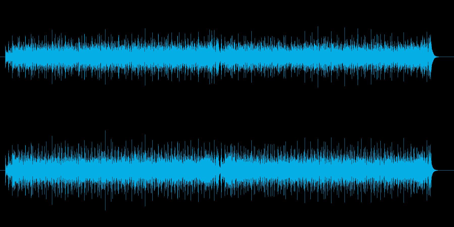 軽快なサンバの再生済みの波形