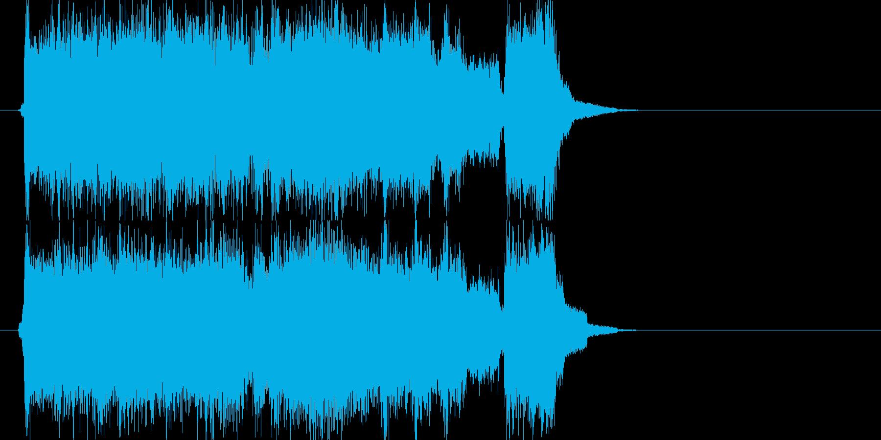 放送等で使える激しい情熱ロックジングルの再生済みの波形