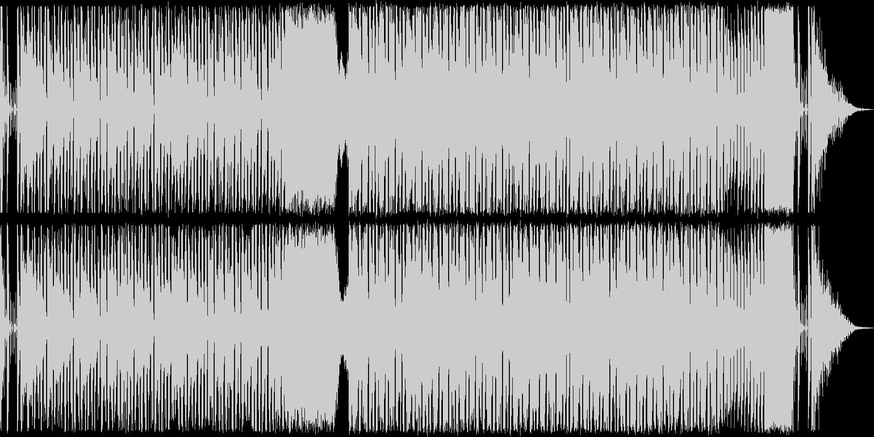 電波系のコミカルなハウスの未再生の波形