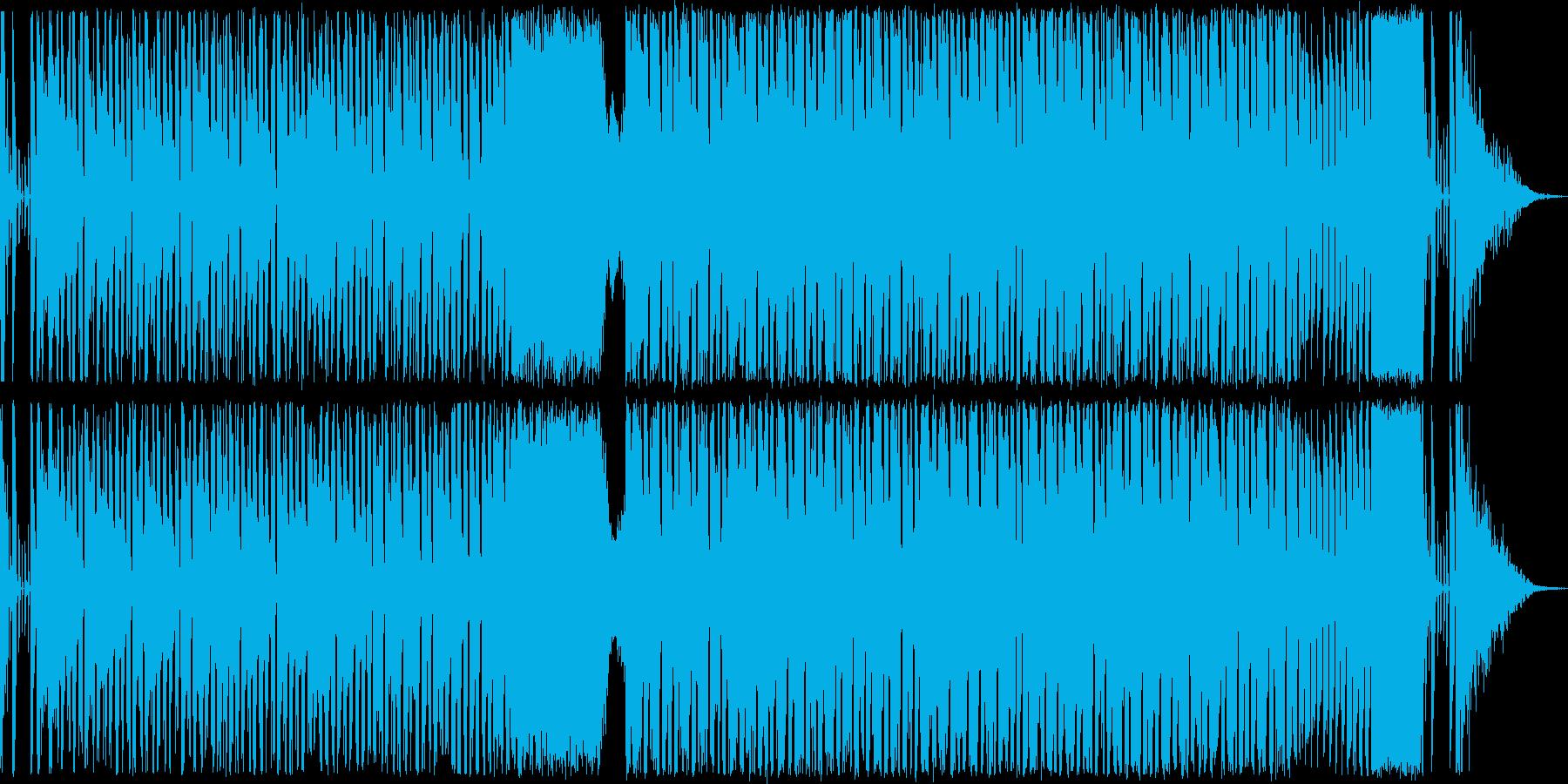 電波系のコミカルなハウスの再生済みの波形