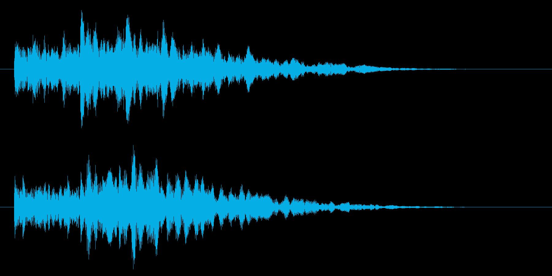 システム・ボタン音3の再生済みの波形