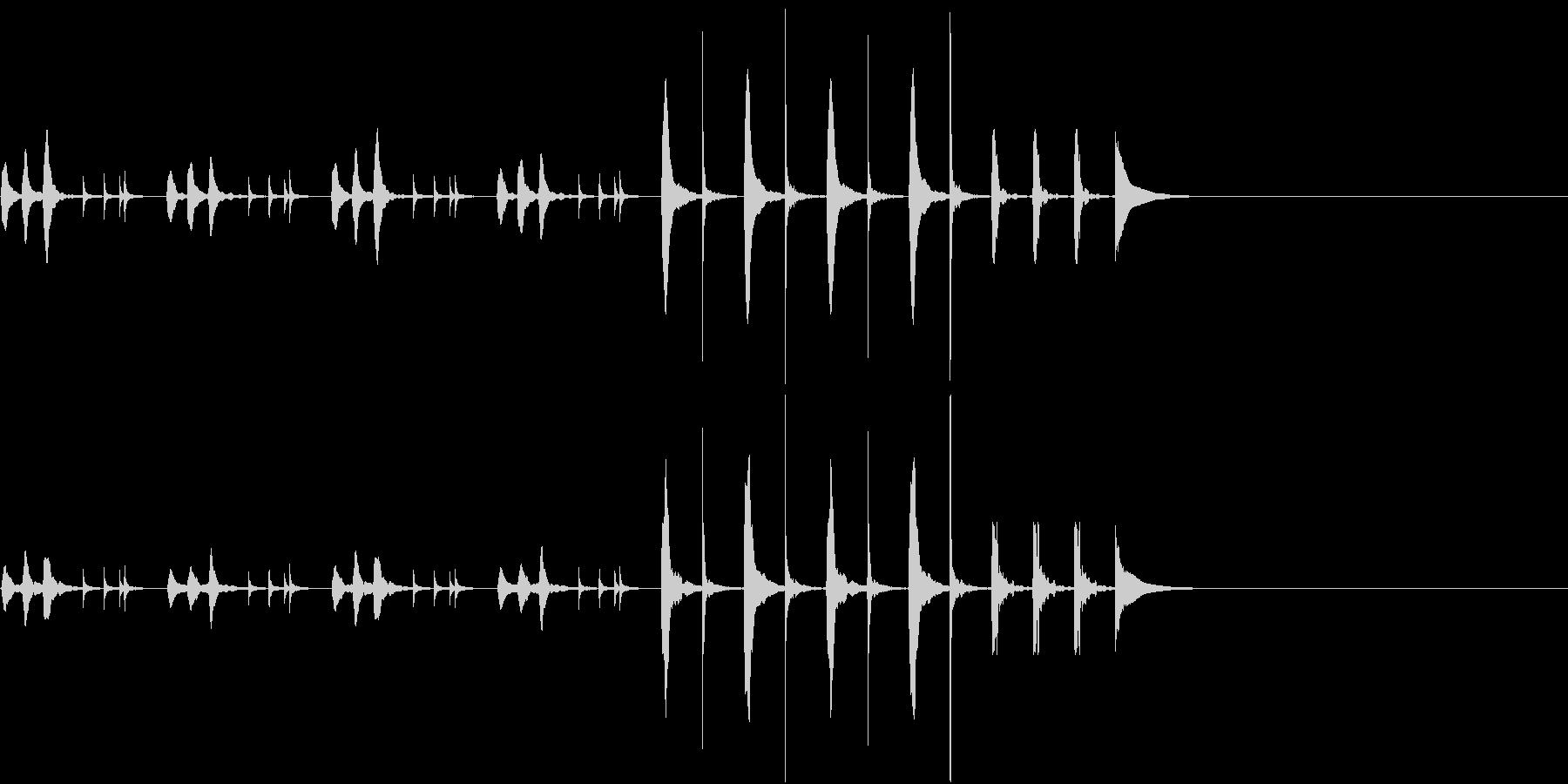 のんびりとしたような日常で流れるBGMの未再生の波形