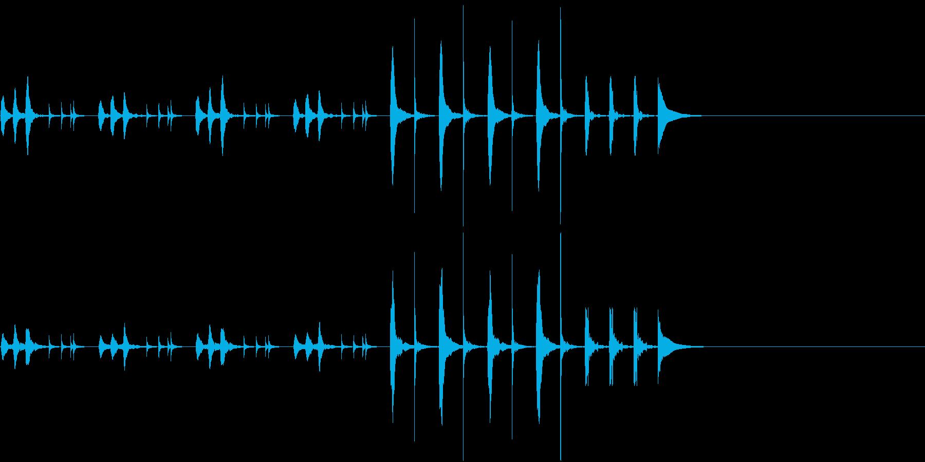 のんびりとしたような日常で流れるBGMの再生済みの波形