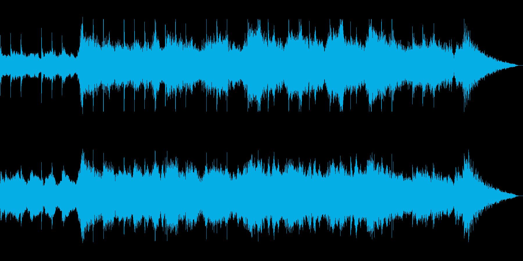 ゆったりドラマチックな打楽器シンセの再生済みの波形