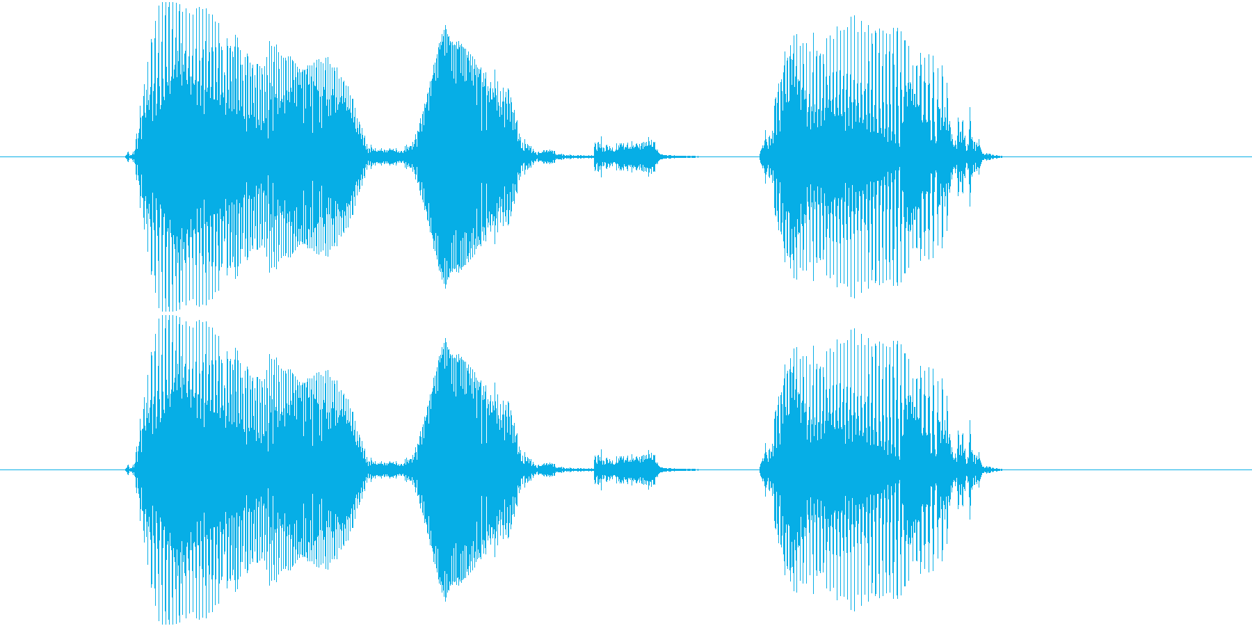 遊技機ゲーム用女性ボイス「パーフェクト」の再生済みの波形