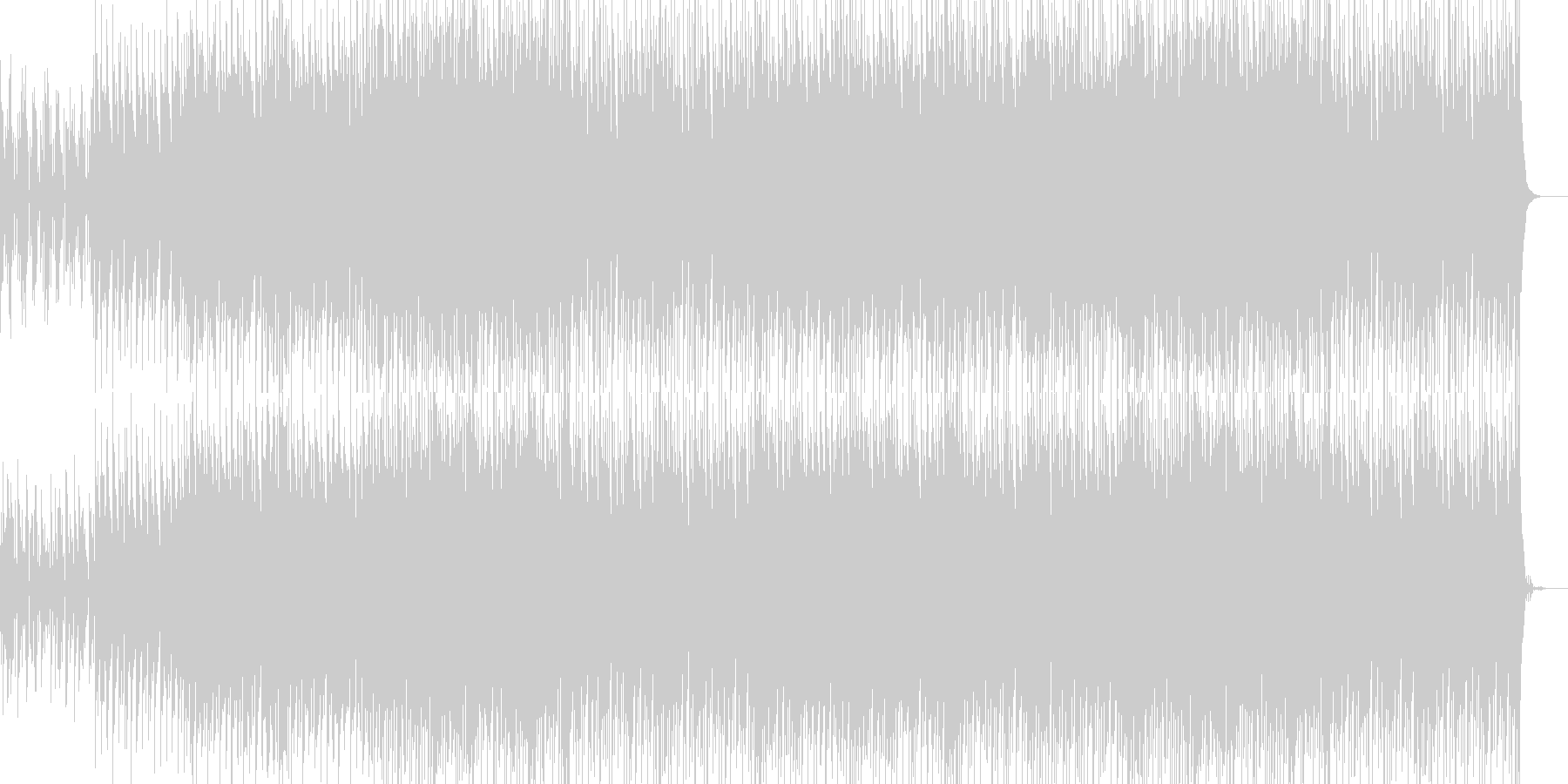 かっこいいリズムのEDMの未再生の波形