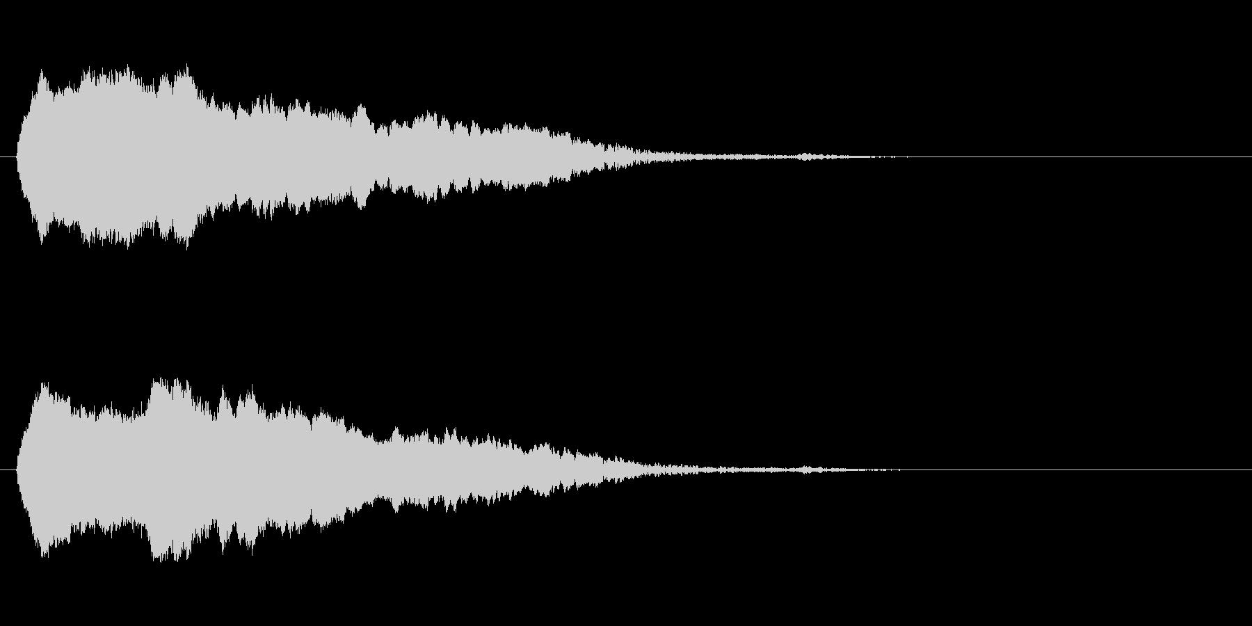 「ピ〜ッ!」警笛による鳥の鳴き声の擬音の未再生の波形