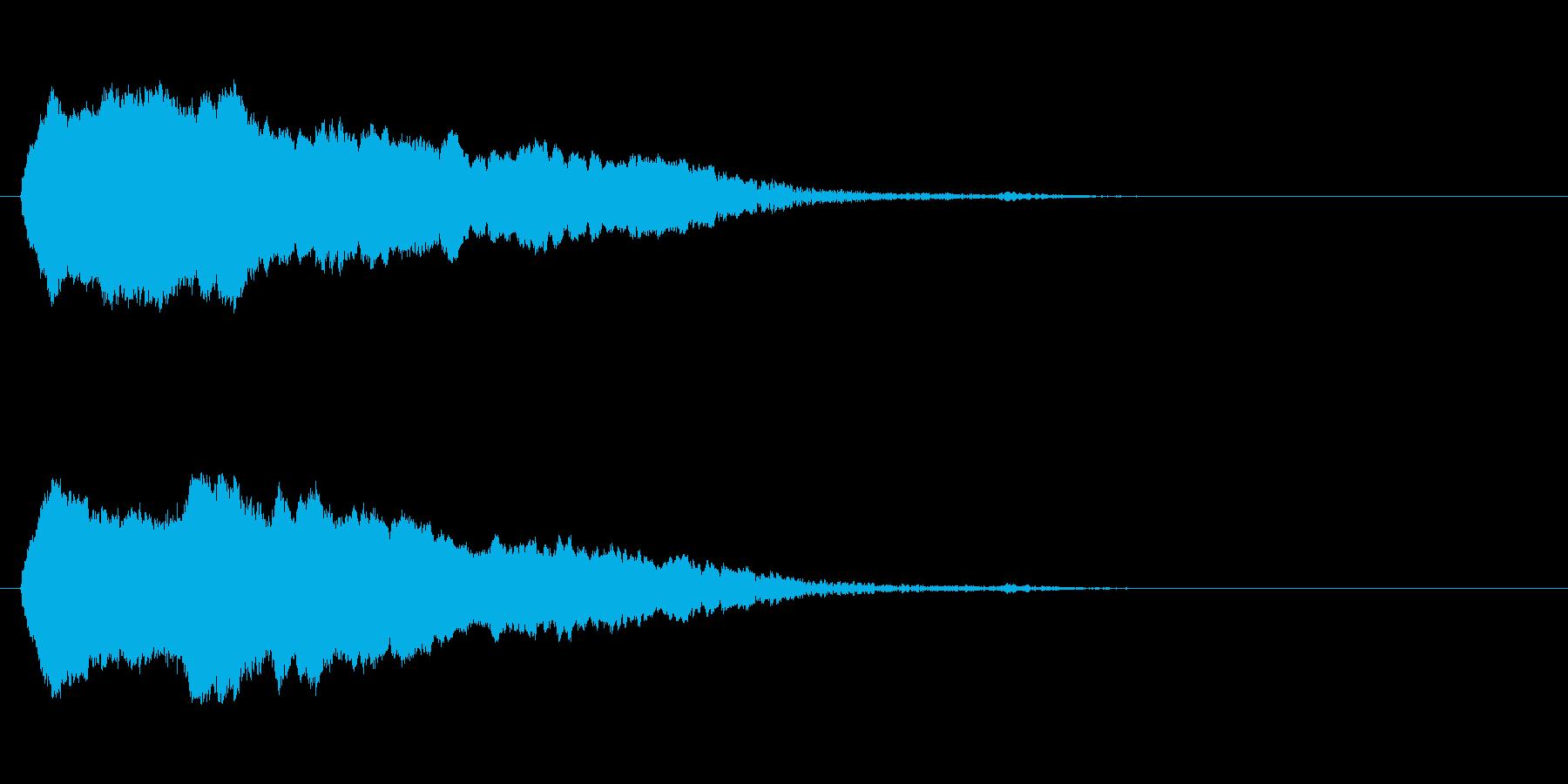 「ピ〜ッ!」警笛による鳥の鳴き声の擬音の再生済みの波形