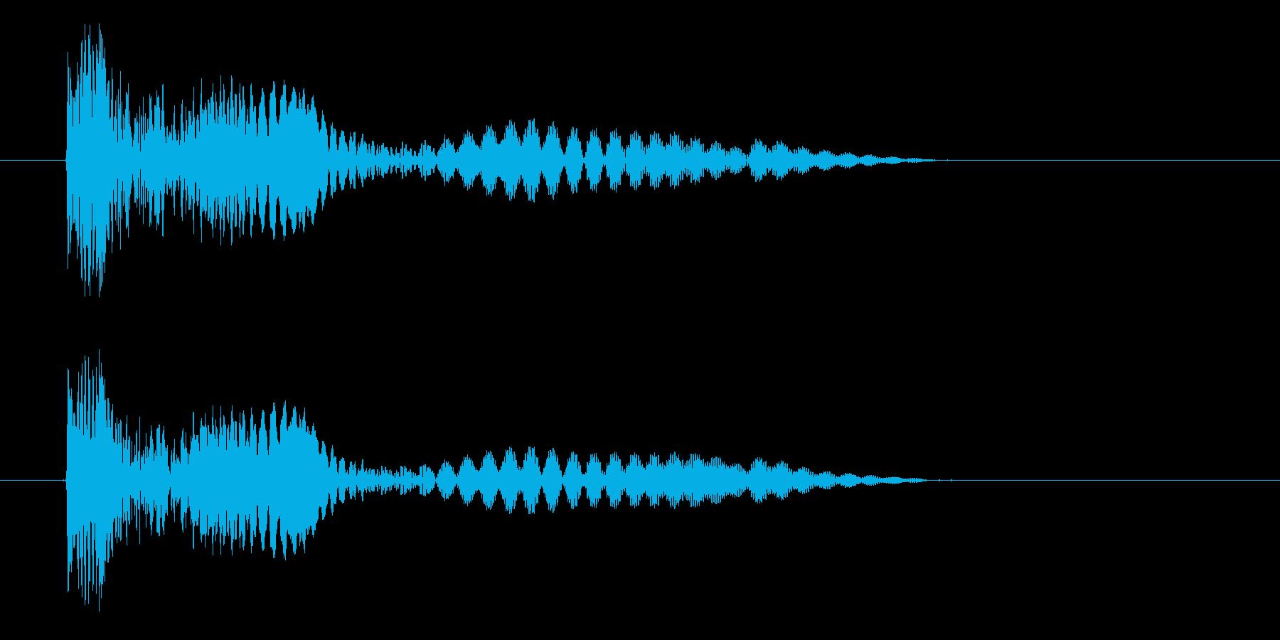 ぼーよよん、と低く鈍く下がる音です。の再生済みの波形