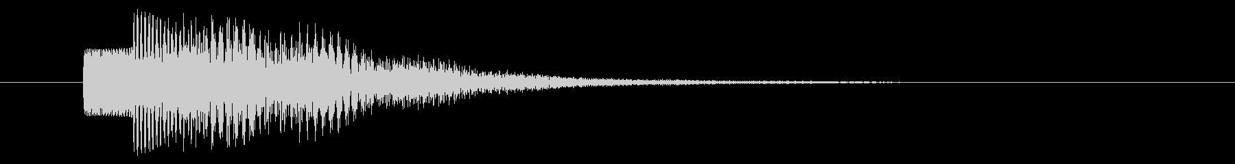 決定音/SF系/宇宙/電子音の未再生の波形