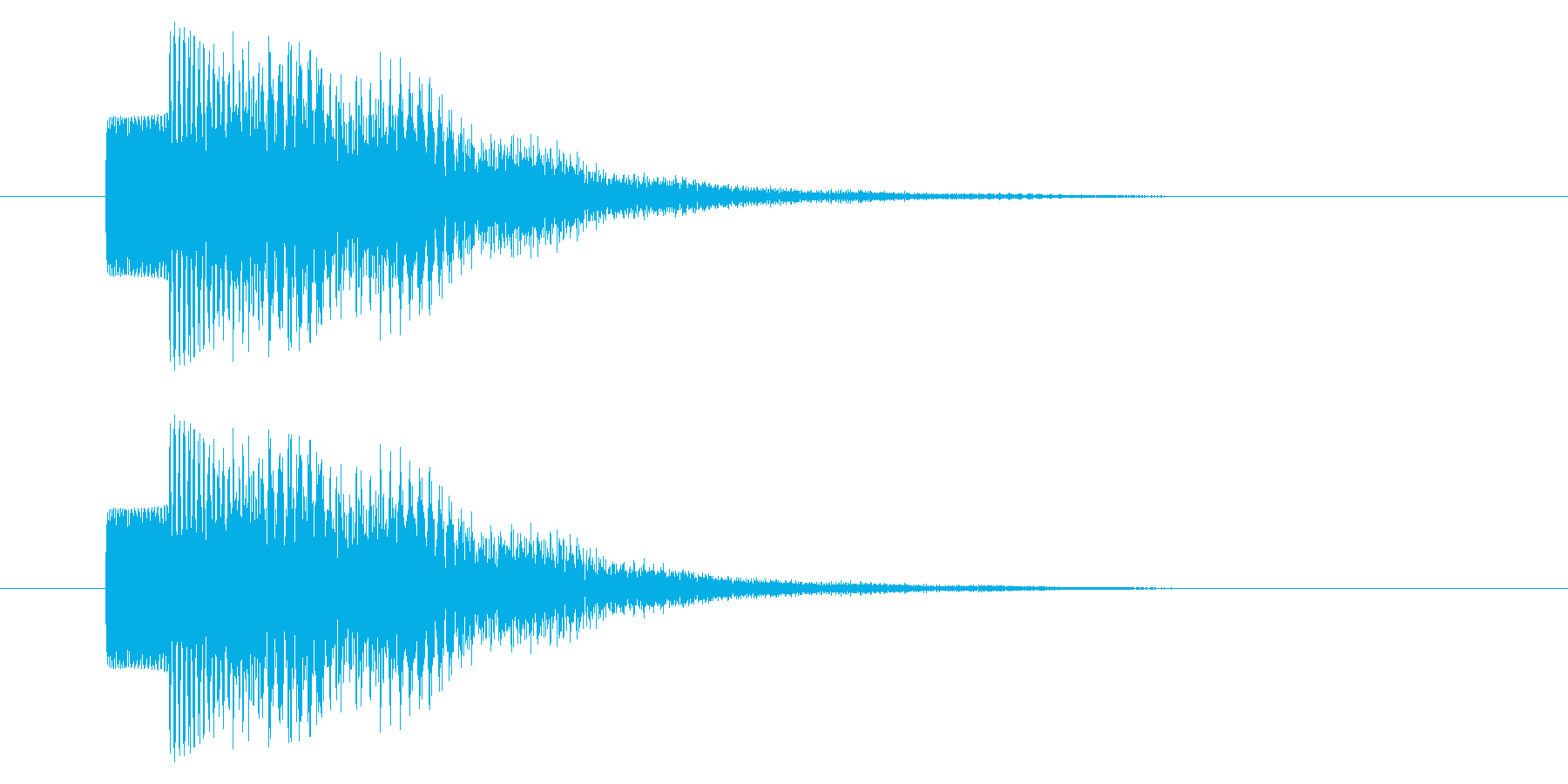 決定音/SF系/宇宙/電子音の再生済みの波形