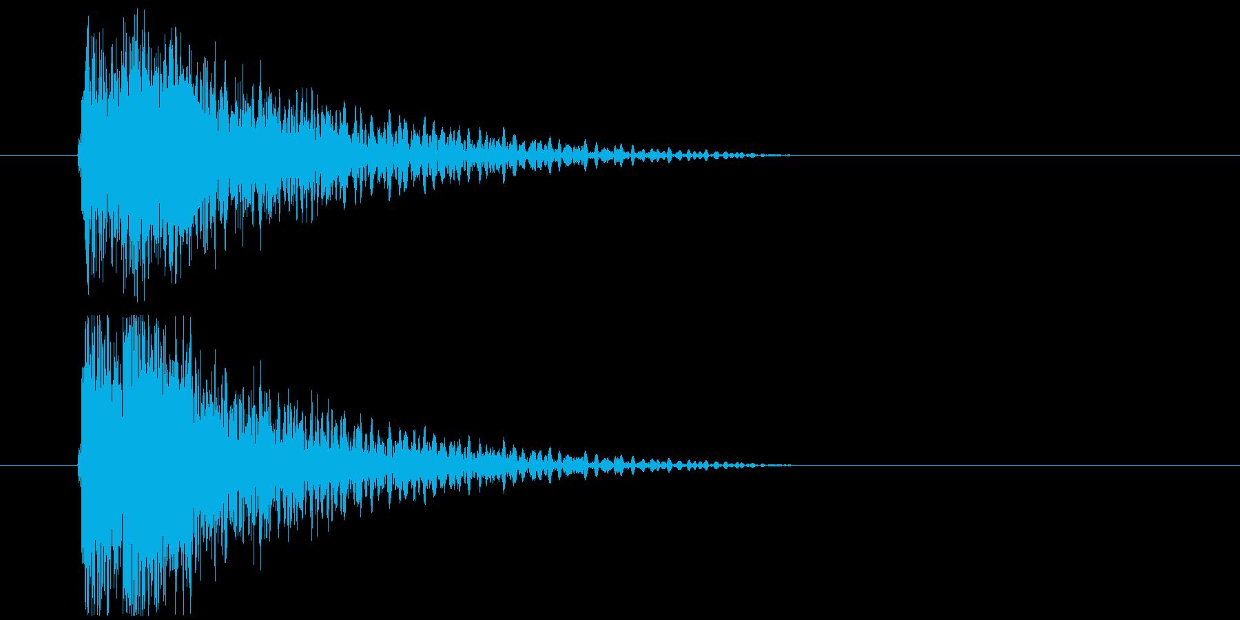 コミカル衝突_衝撃の再生済みの波形