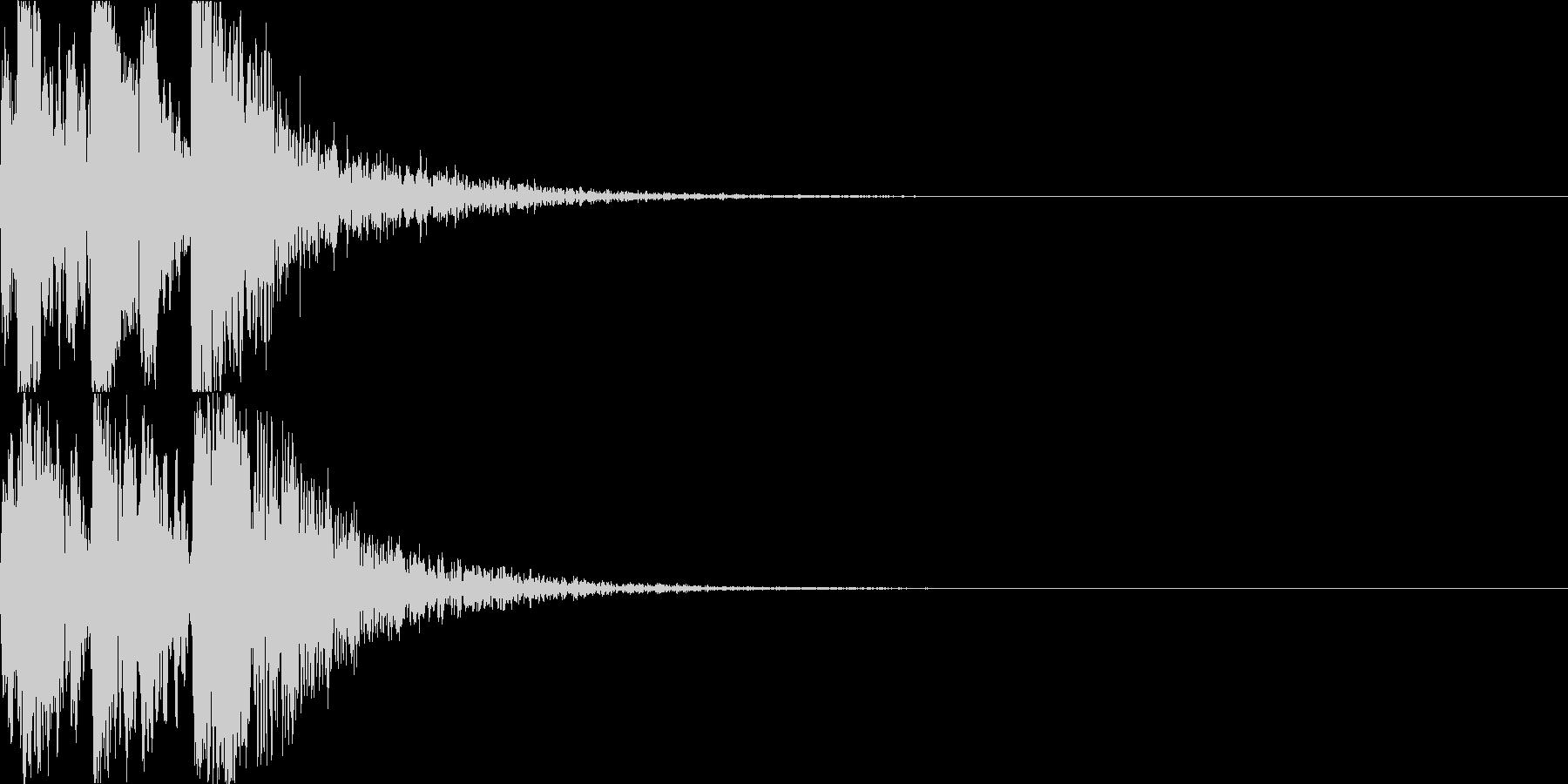 鼓(つづみ)太鼓のフレーズ ジングル3bの未再生の波形