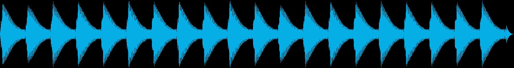 踏切(カンカンカンカン)の再生済みの波形