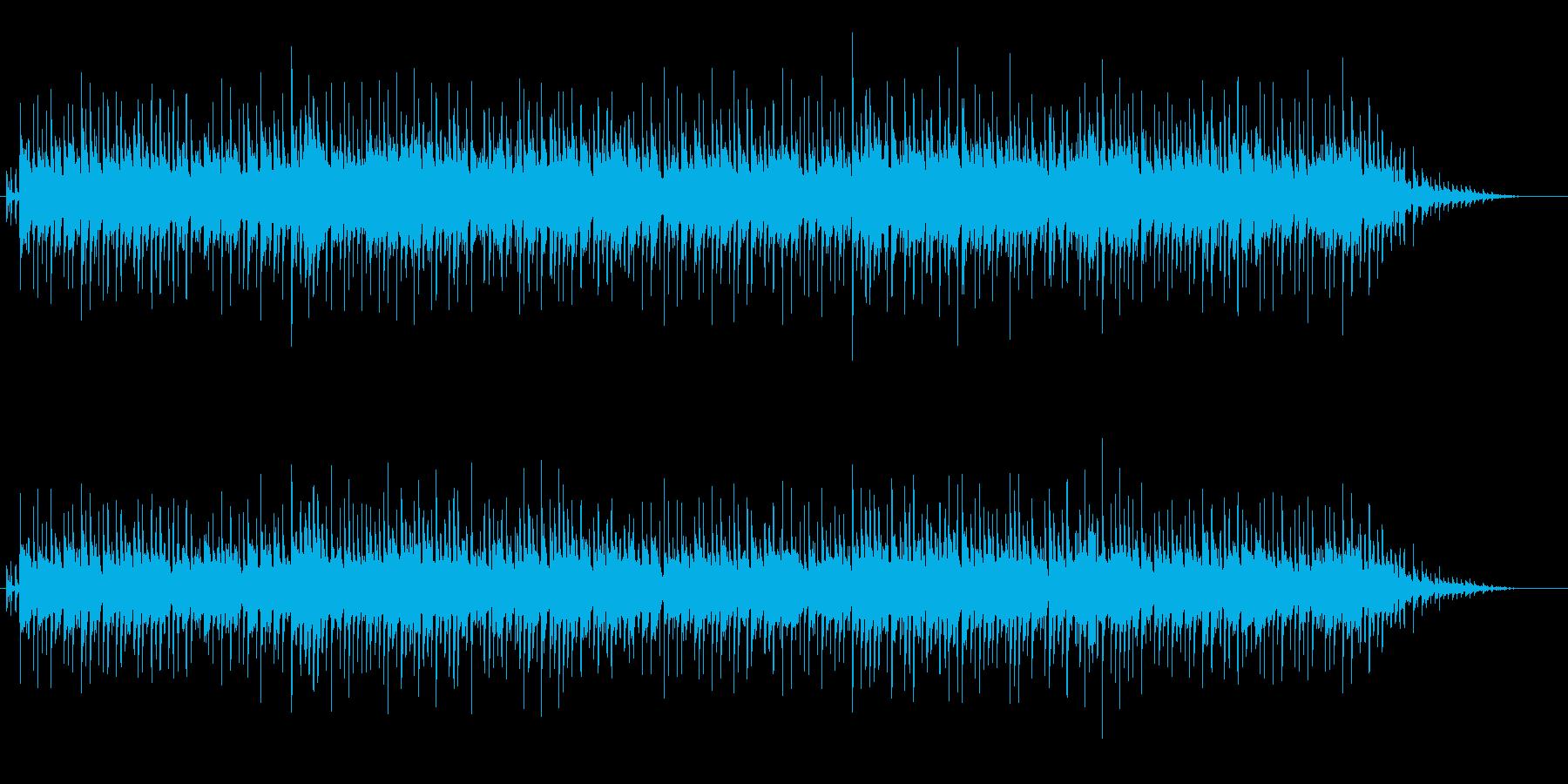 リラックスできるムード音楽の再生済みの波形