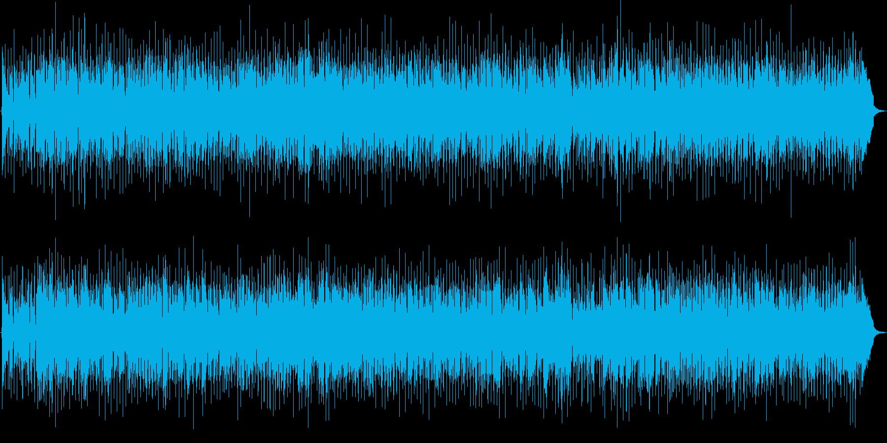 ほのぼのしたポップスBGMの再生済みの波形