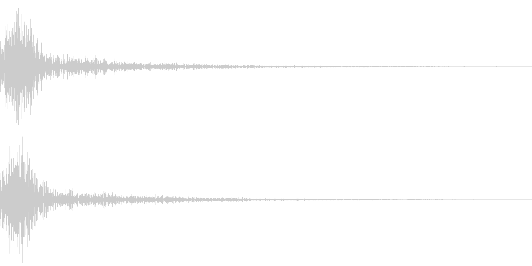 ドン!小太鼓の和風演出 効果音 01の未再生の波形