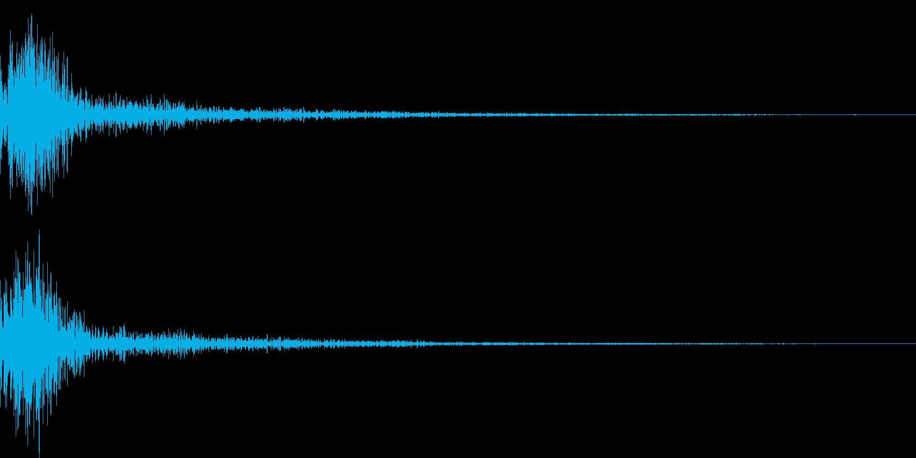 ドン!小太鼓の和風演出 効果音 01の再生済みの波形