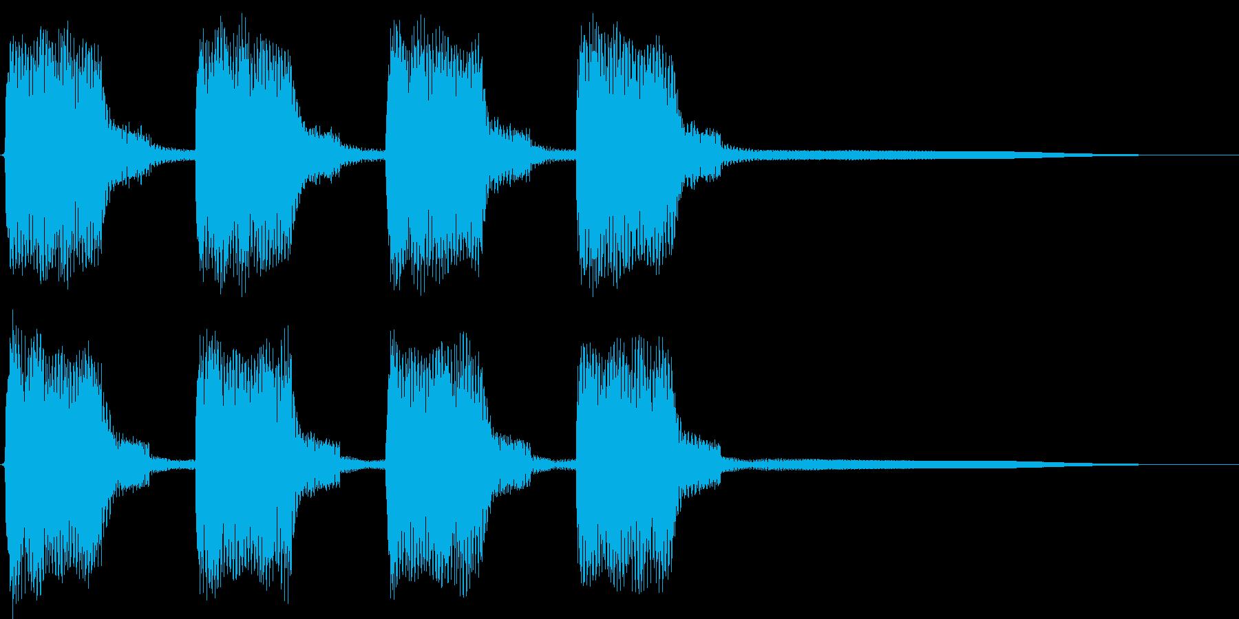 ビービー。緊急事態の警報音Cの再生済みの波形