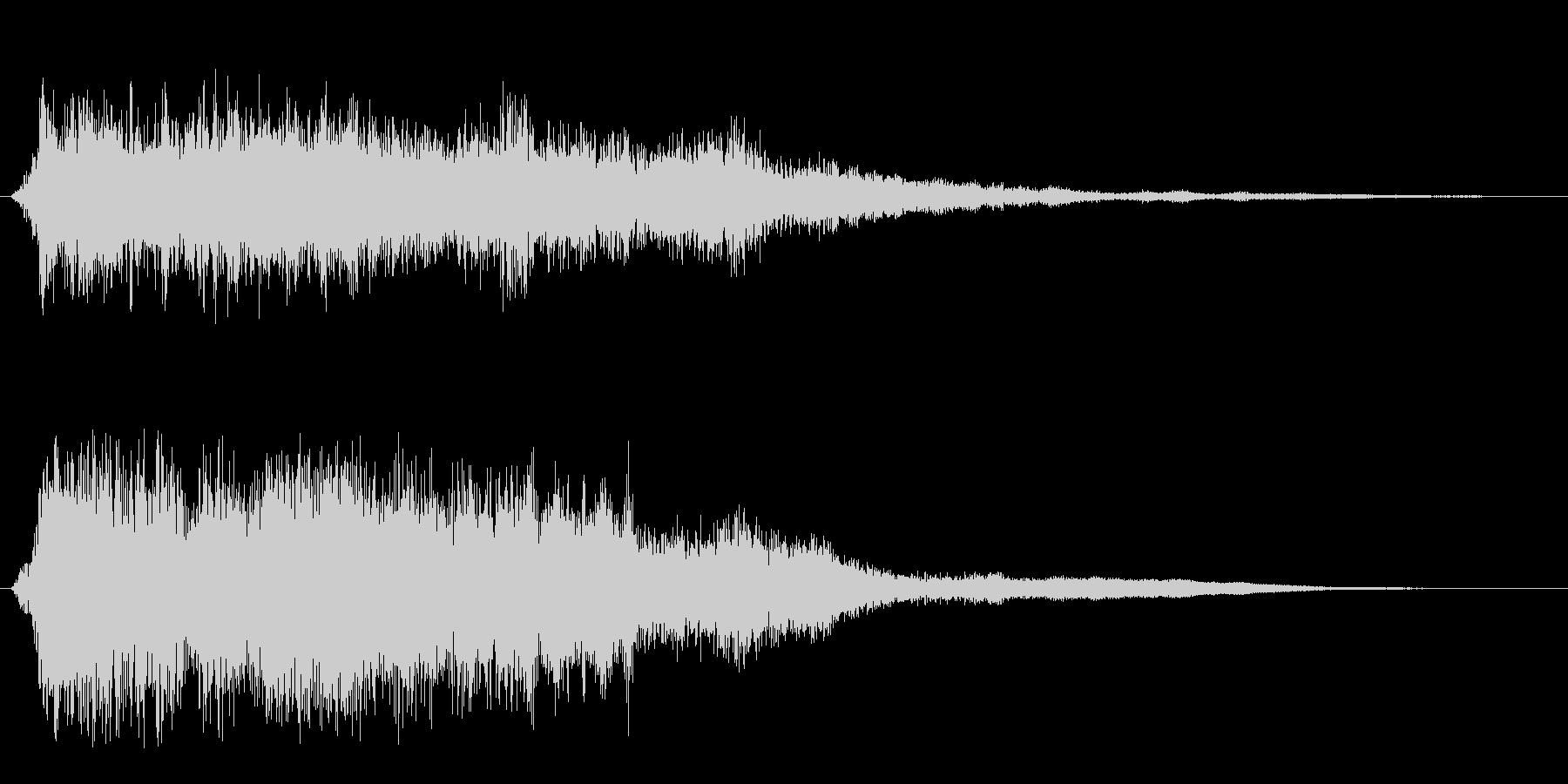 ガラガラガラーン(金属の倒れる音)の未再生の波形