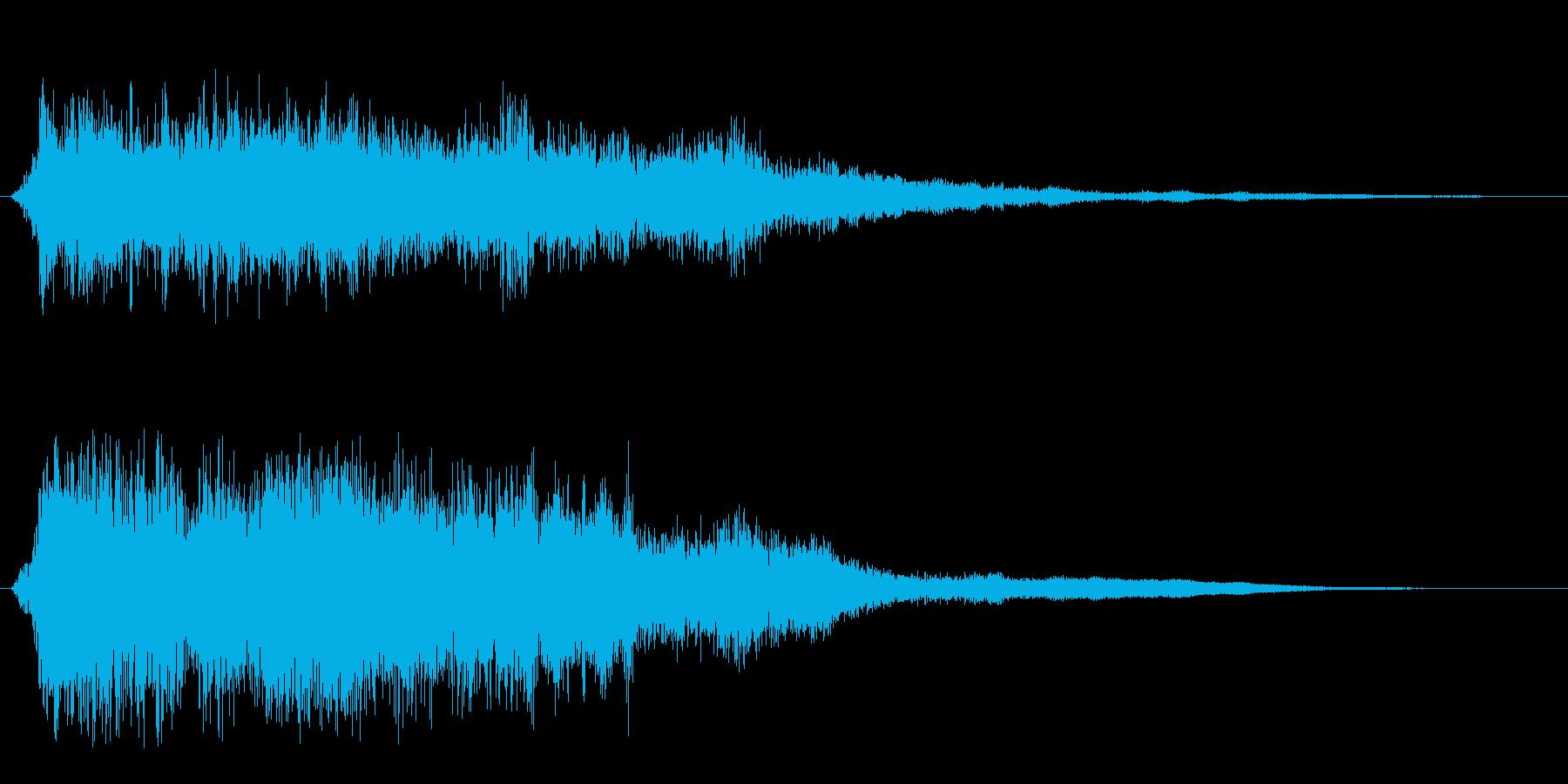 ガラガラガラーン(金属の倒れる音)の再生済みの波形