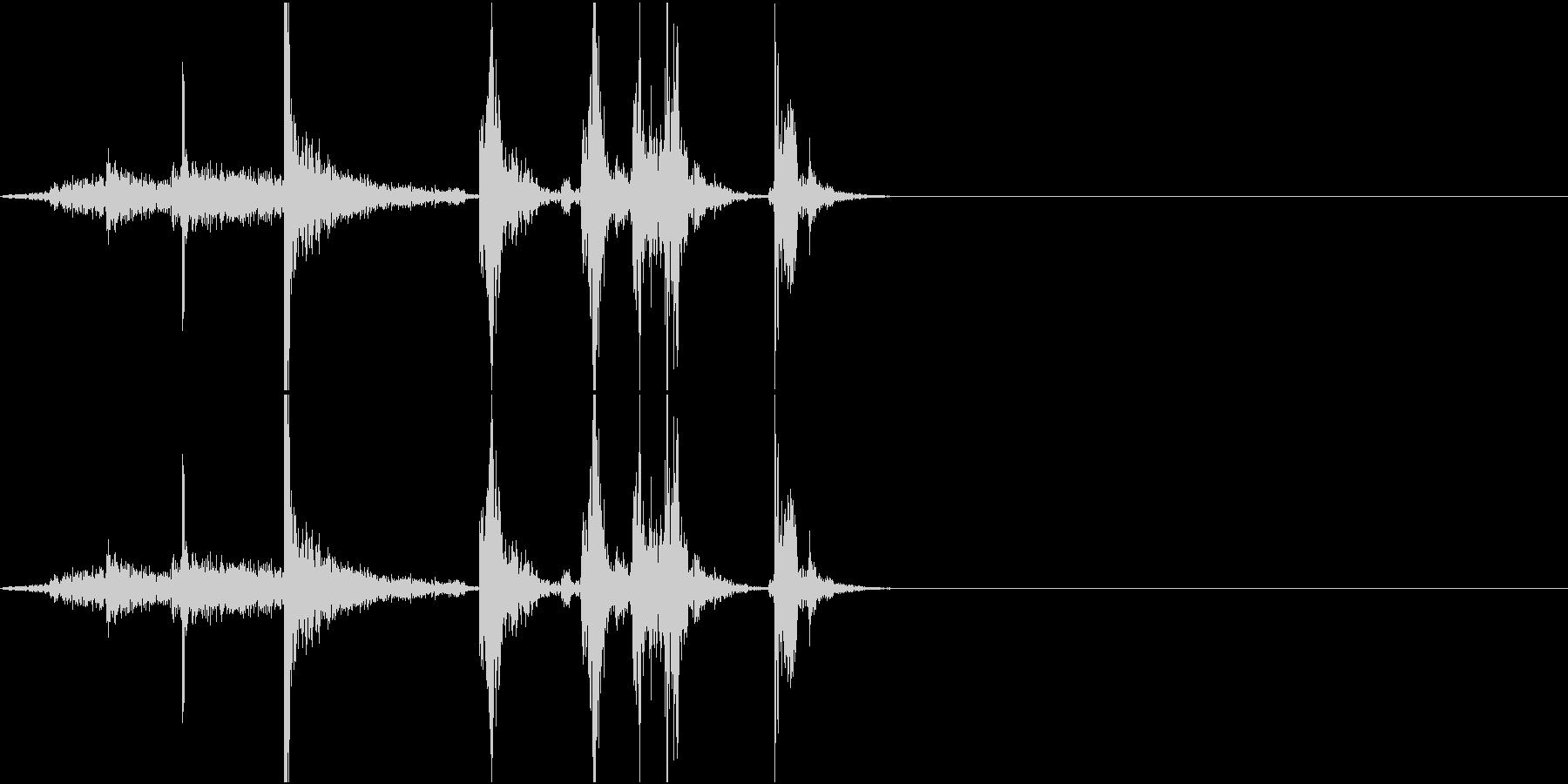 PaperNoise ページをめくる音の未再生の波形