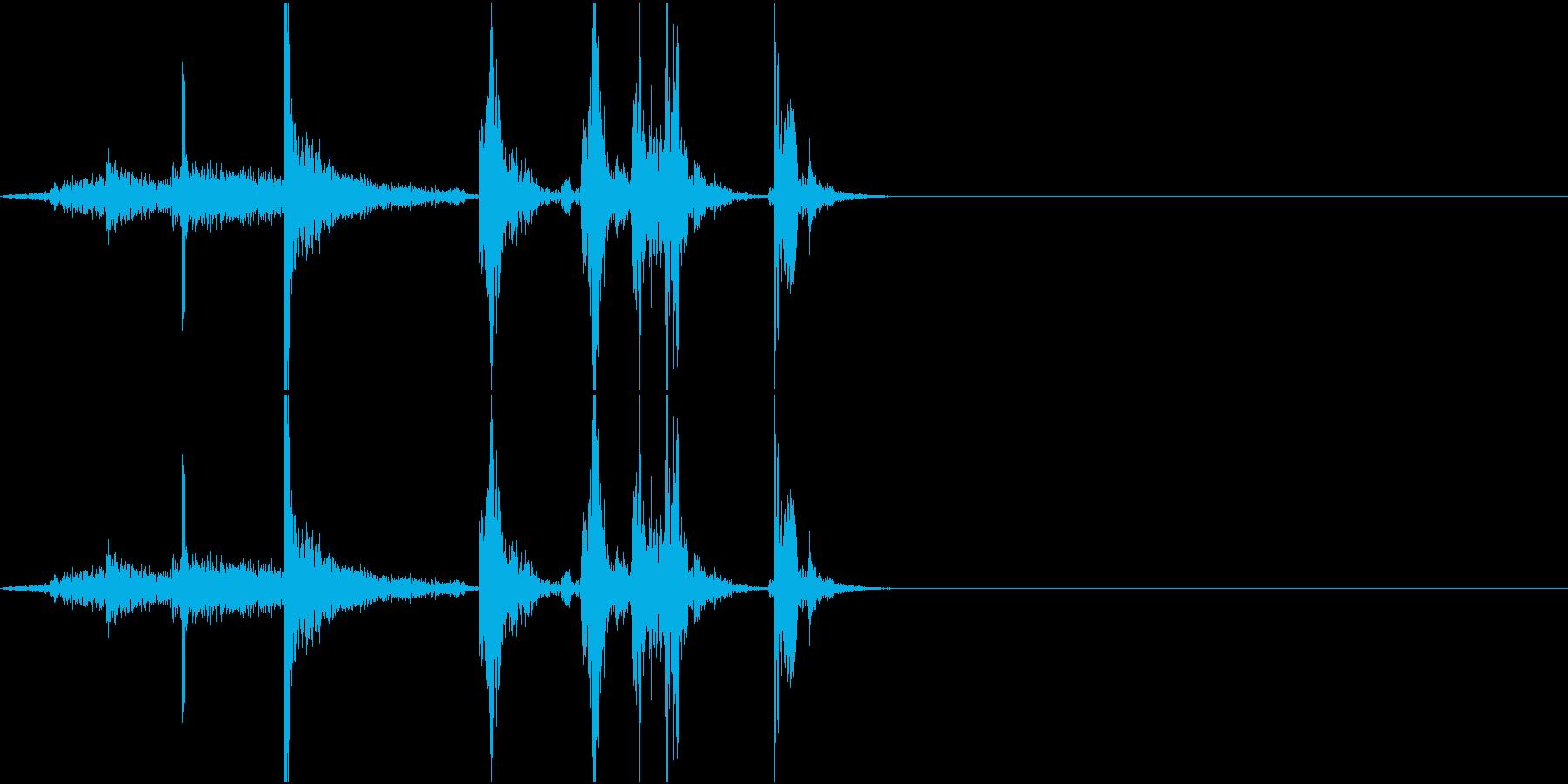 PaperNoise ページをめくる音の再生済みの波形