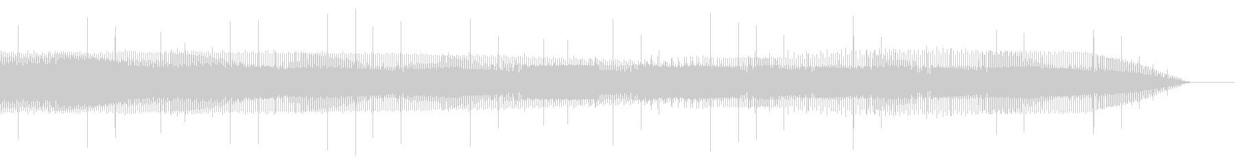 電気的なノイズ(ブー、ショート、故障)の未再生の波形