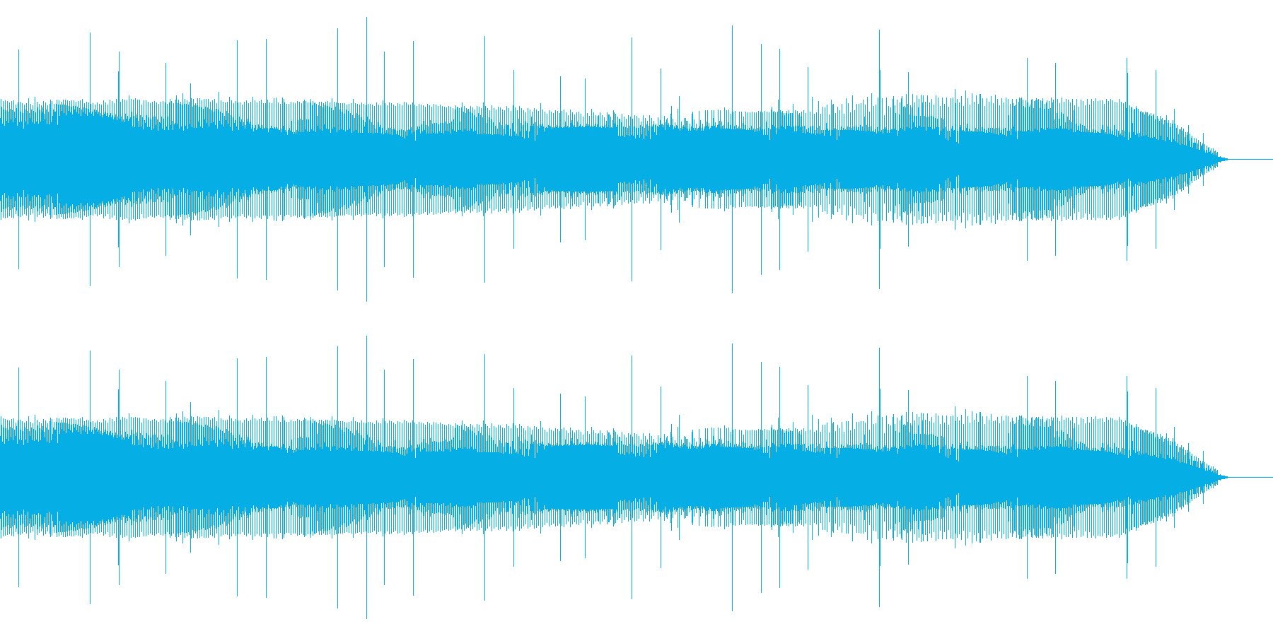 電気的なノイズ(ブー、ショート、故障)の再生済みの波形