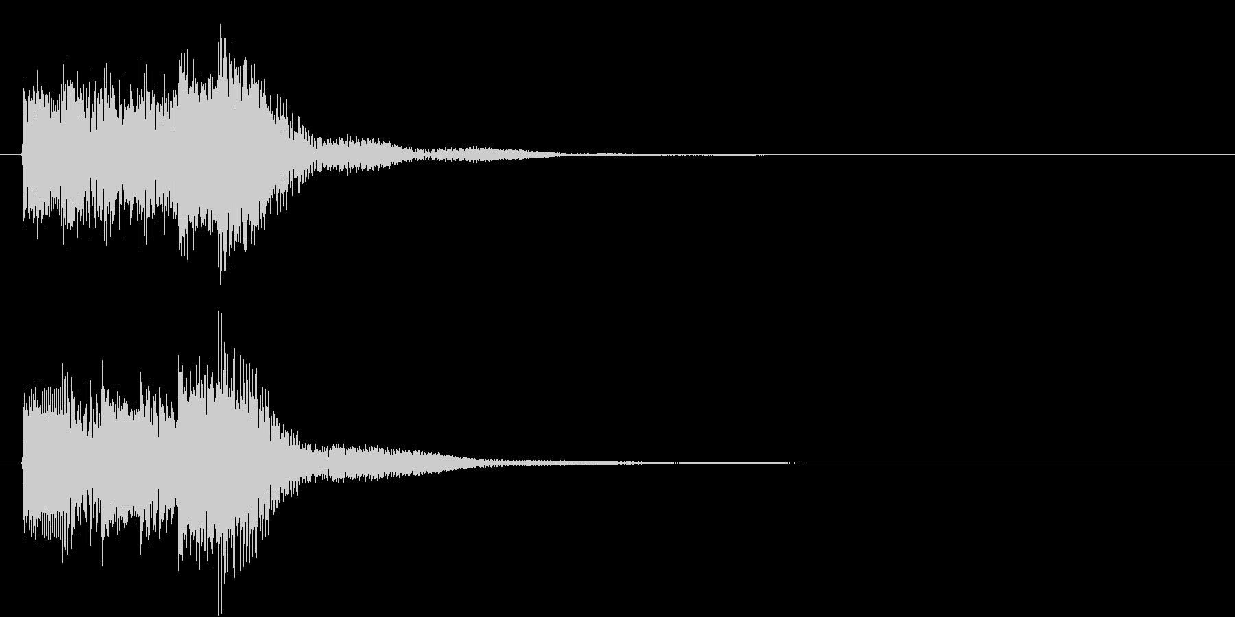 レベル・ステータス変化な効果音 4の未再生の波形