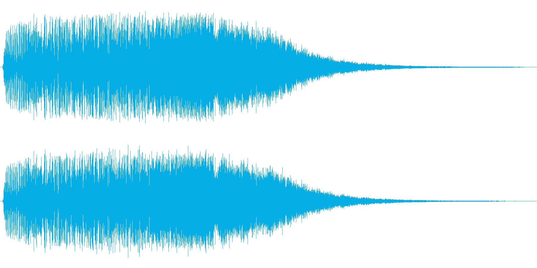 女の子アニメの変身場面に効果的な音の再生済みの波形