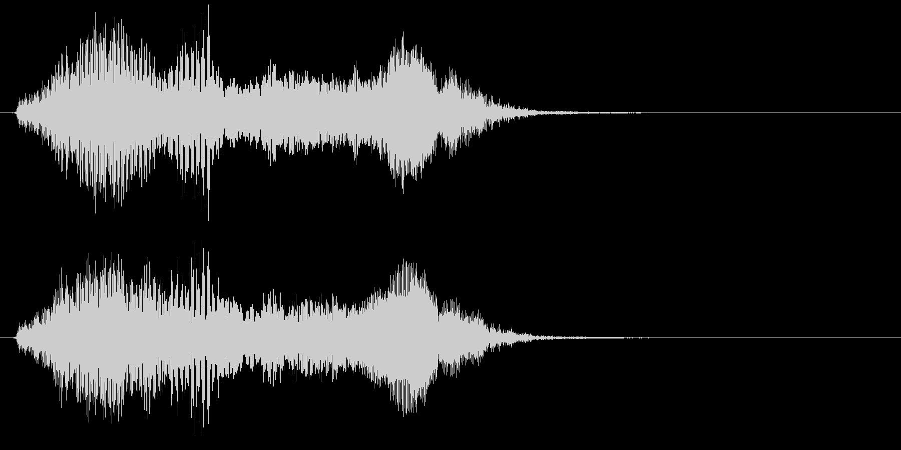 象の鳴き声3の未再生の波形