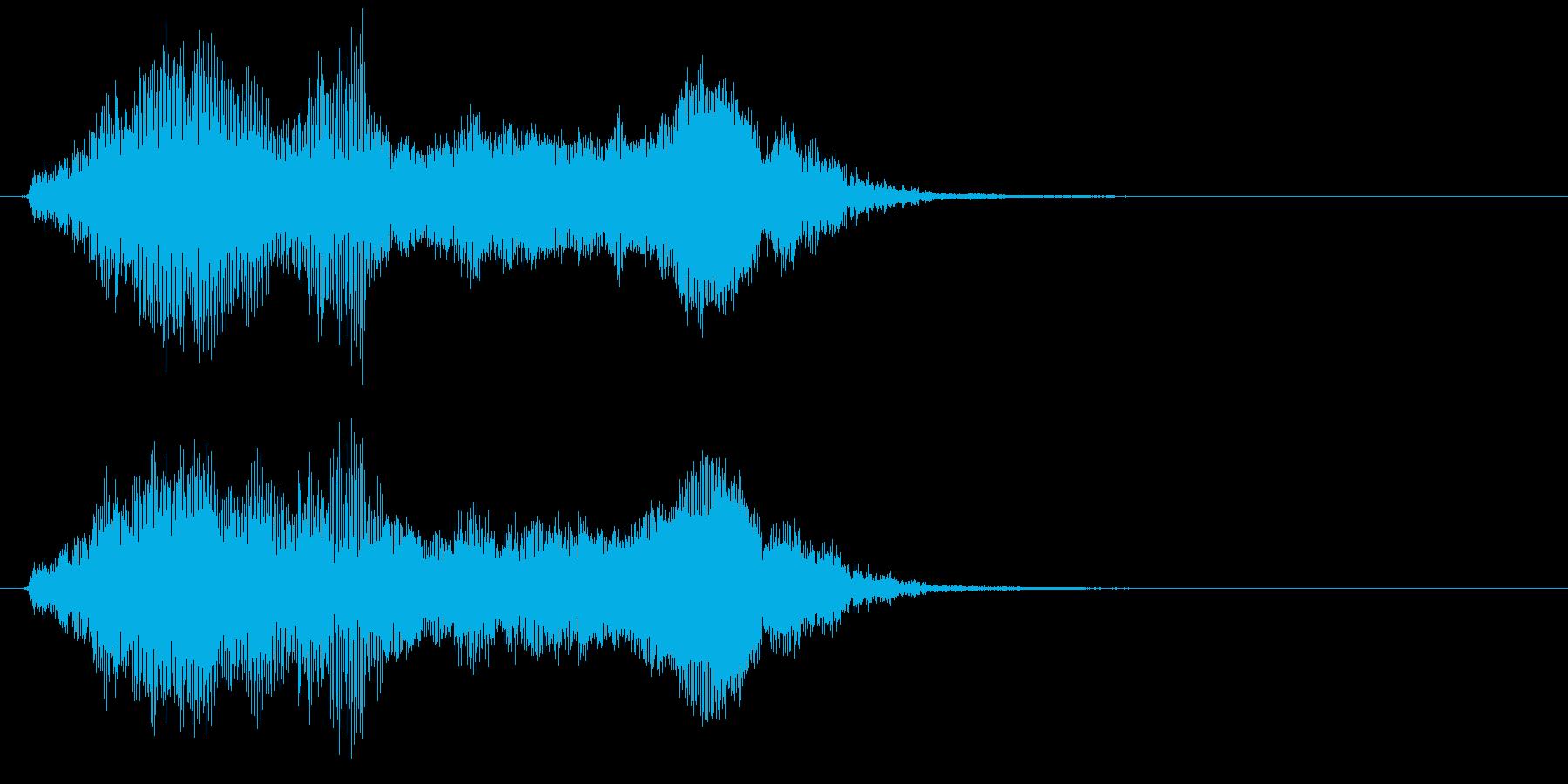 象の鳴き声3の再生済みの波形