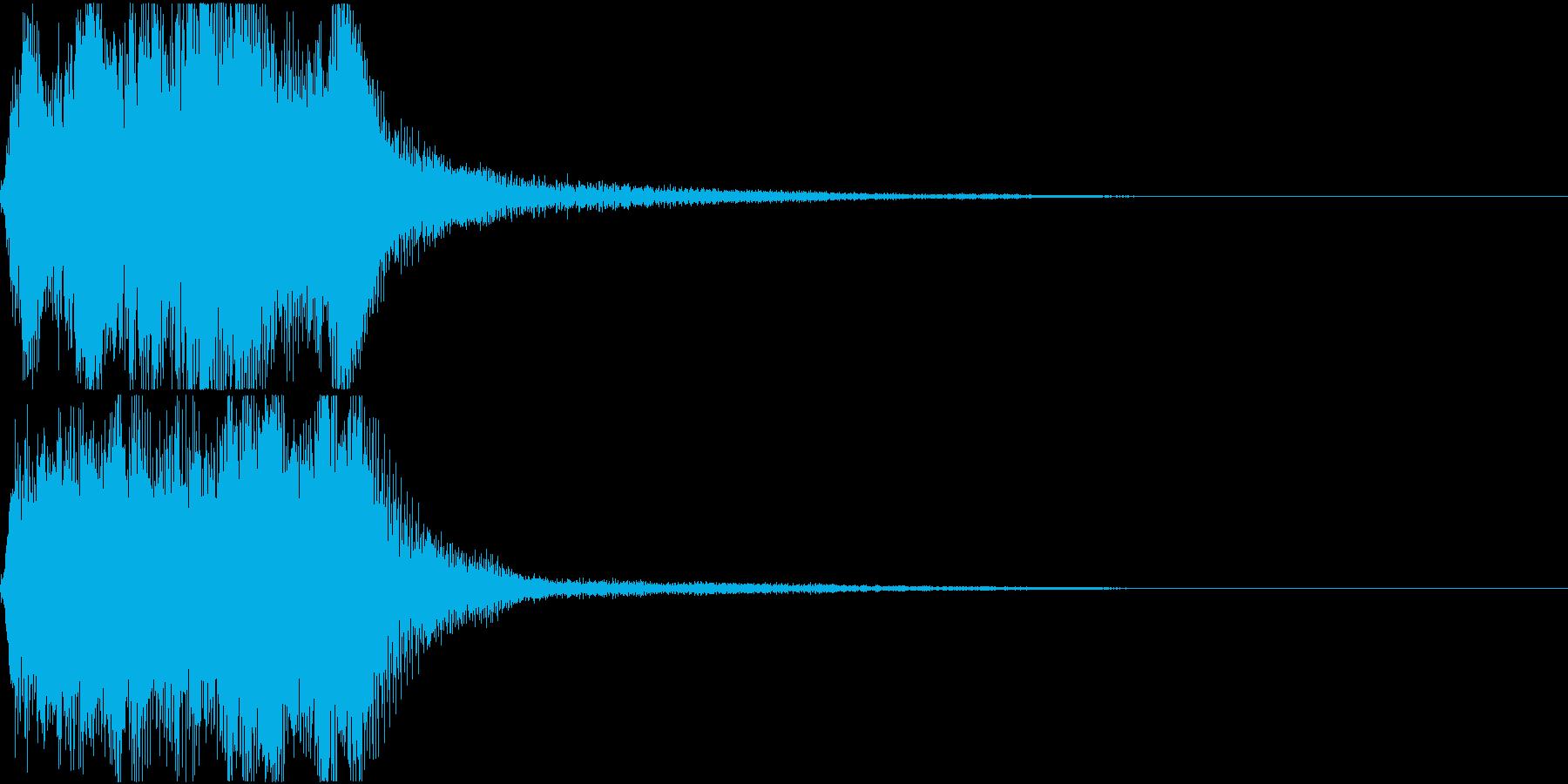 ラッパ ファンファーレ 定番 23 早いの再生済みの波形