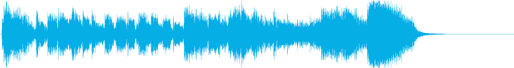 上昇していくメロディが印象的なジングルの再生済みの波形