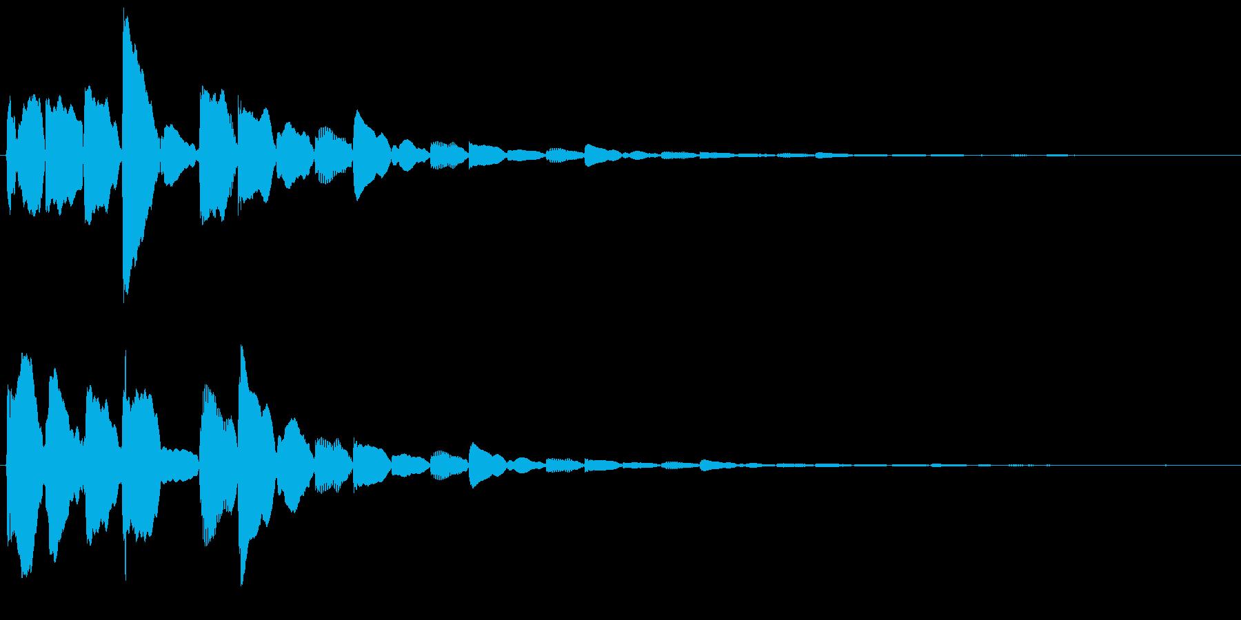 ポイント取得時に使える電子音SEの再生済みの波形