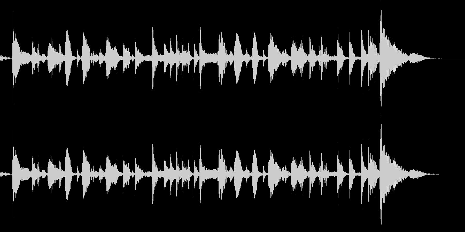 軽快さのあるギターの未再生の波形
