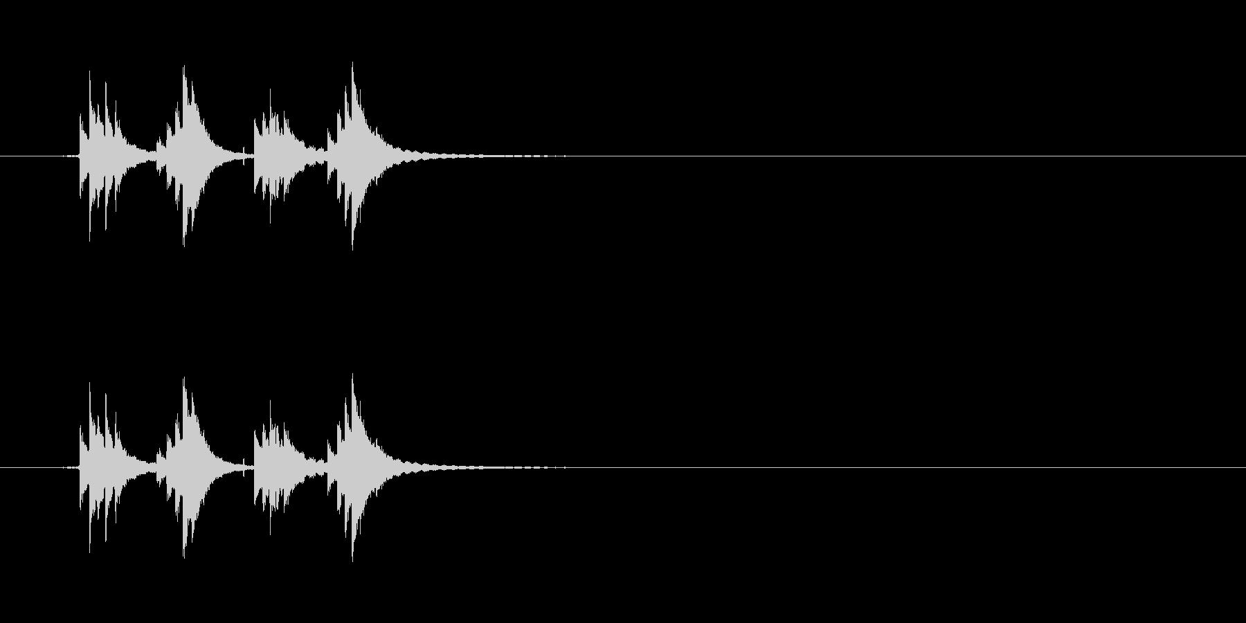 チリンチリーン1 自転車のベルの未再生の波形