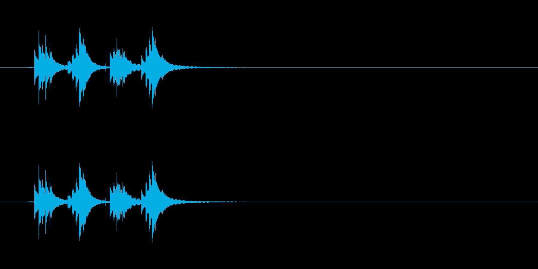 チリンチリーン1 自転車のベルの再生済みの波形