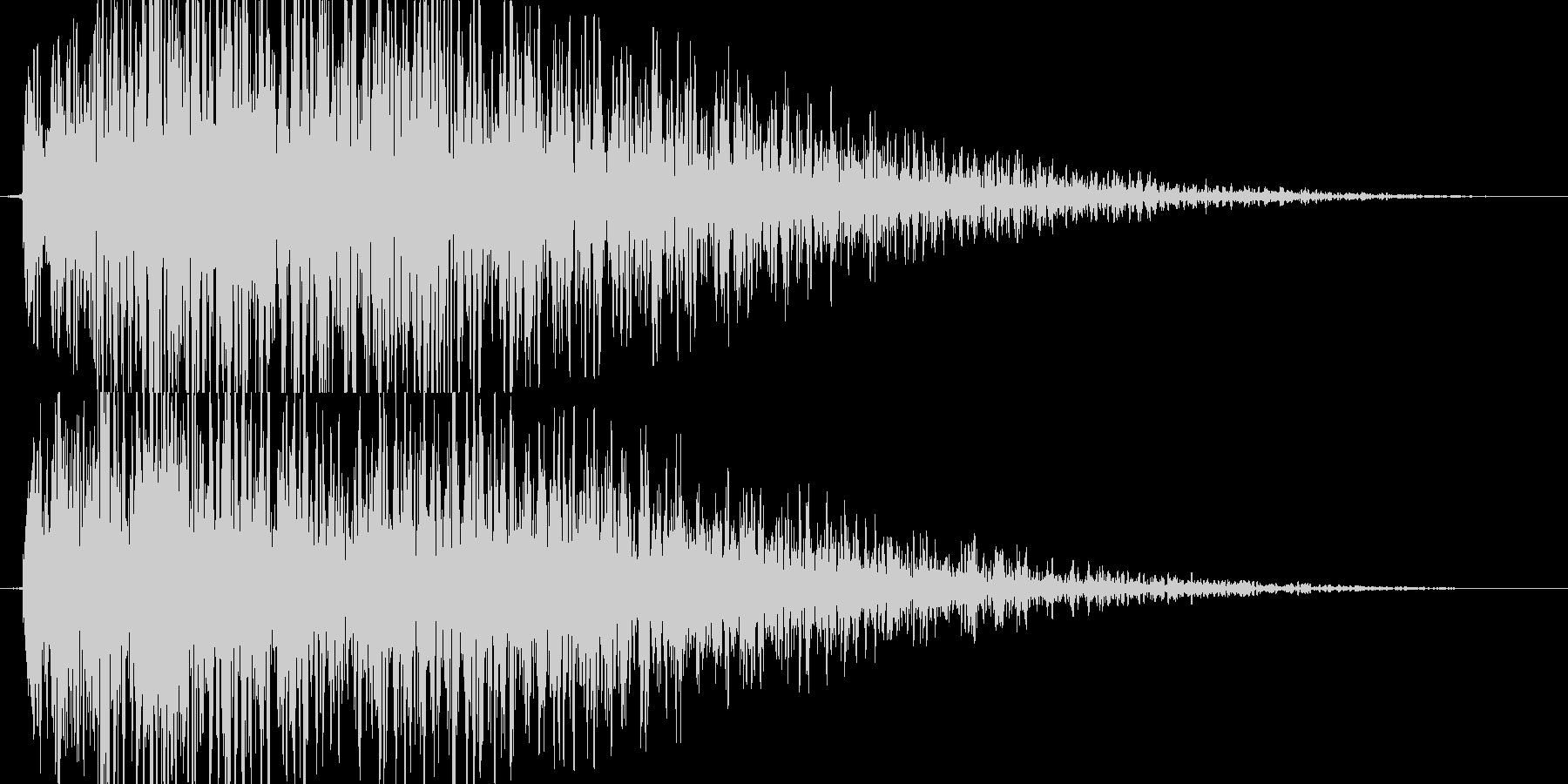 【爆音1(短縮版)】大砲、戦闘ダメージ音の未再生の波形