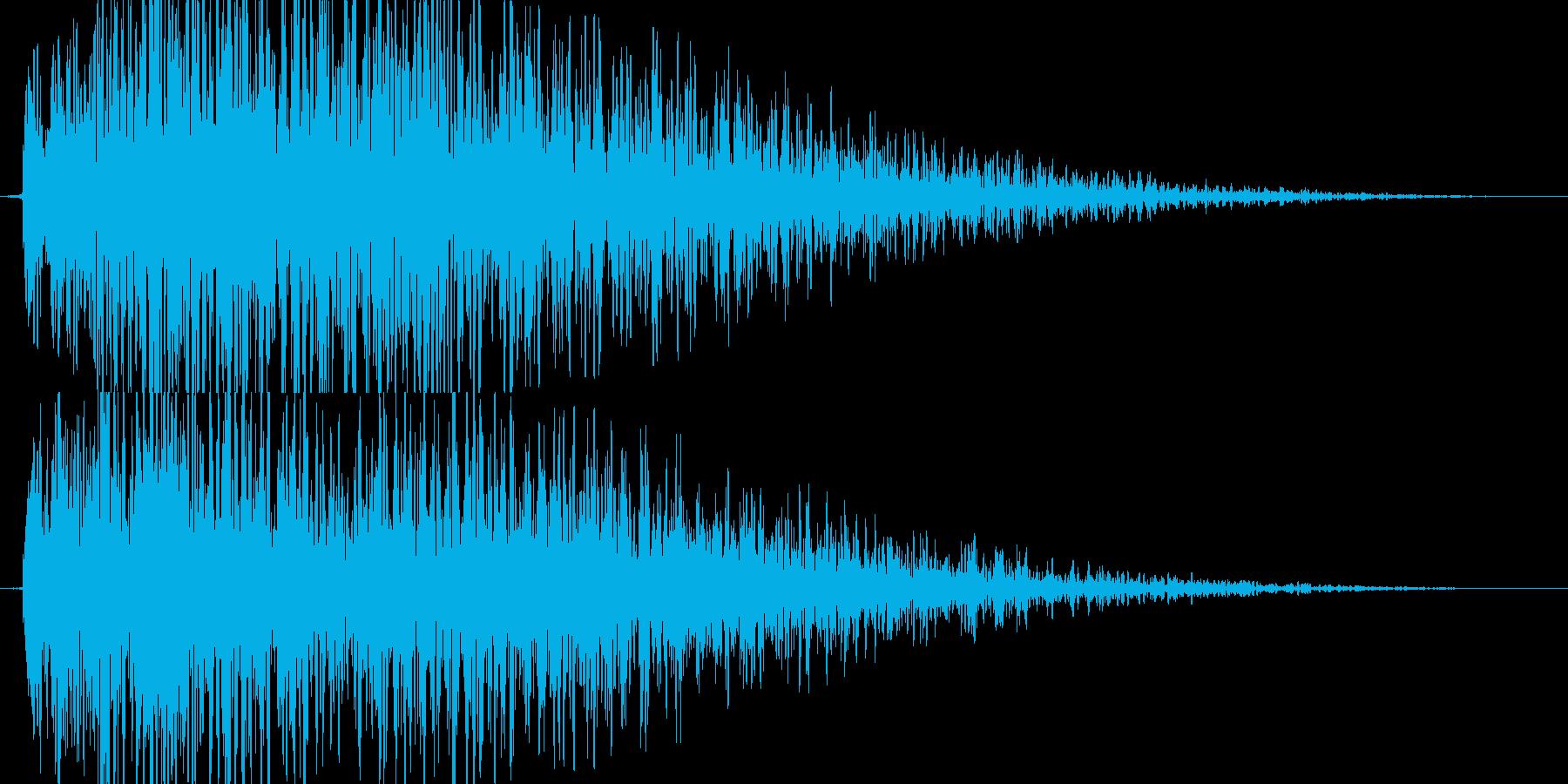 【爆音1(短縮版)】大砲、戦闘ダメージ音の再生済みの波形